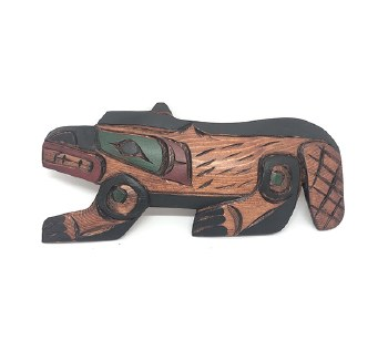 Wood Plaque Beaver