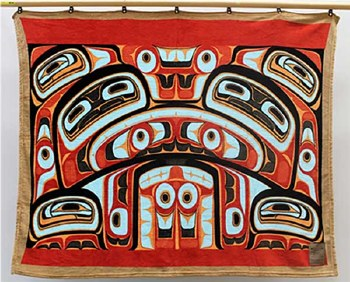 Haida Bentwood Box Velura Fleece Blanket Great Box Considered