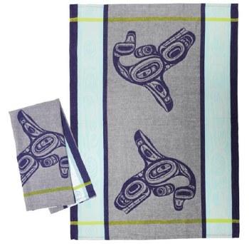 Jacquard Tea Towel - Whale