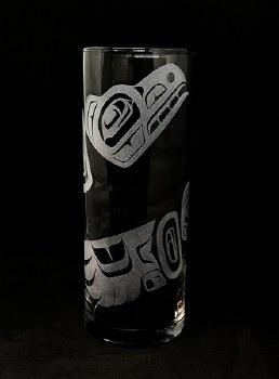 """9"""" Cylinder  Vase - Raven"""