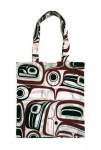 Cotton Tote - Raven - Red