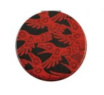 Red Raven Compact Mirror