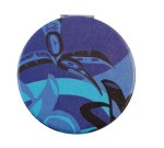 Purple Hummingbird Compact Mirror