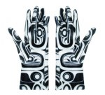 Gloves Raven - White S-M