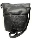 Bucket Purse Front Pocket Black
