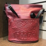 Bucket Purse Zip Top - Red