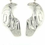 Sterling Silver Raven Wing Earrings