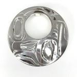 Sterling Silver Circle Raven Pendant