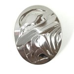 Sterling Silver Oval Frog Pendant