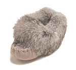 Baby moccasins with rabbit fur - Size 3