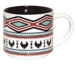 NNW mug ceramic salish weaving