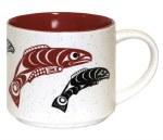 Ceramic Mug - Salmon Red