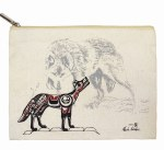 Canvas Pouch Wolf