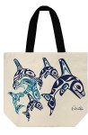 Canvas Tote Orca Family