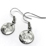 Sterling Silver Round Bear Drop Earrings