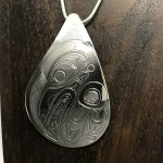 Sterling Silver Teardrop - Raven - XL