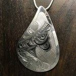 Sterling Silver Teardrop - Bear - XL