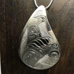 Sterling Silver Teardrop - Orca - XL