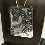 Sterling Silver Rectangular - Wolf - XL