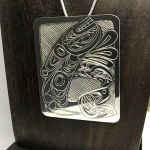 Sterling Silver Rectangular - Orca with Eagle - XL