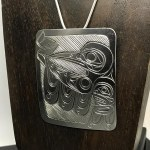 Sterling Silver Rectangular - Hummingbird - XL