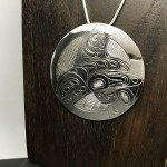 Sterling Silver Round - Orca with Eagle - XL