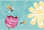 Bee & Blossoms Card
