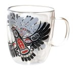 Double Walled Glass Mug - Eagle's First Flight