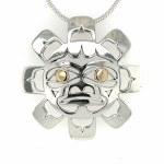 Sterling Silver & Gold Sun Pendant