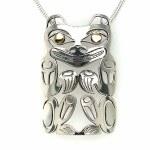Sterling Silver & Gold Bear Pendant