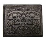 Leather Bi-fold Wallet - Eagle, Bear & Frog