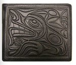 Leather Bi-fold Wallet - Wolf