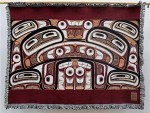 Haida Bentwood Box Cotton Blanket Great Box Considered