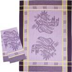 Running Raven Purple Tea Towel