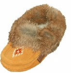 Tan Suede with Rabbit Fur