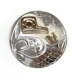 Sterling Silver & Gold Circle Hummingbird Pendant