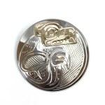 Sterling Silver & Gold Circle Bear Pendant
