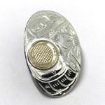 Sterling Silver & Gold Oval Hummingbird Pendant - Mini