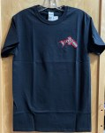 Salmon Embroidered T-shirt - Black
