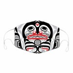 Mask - 3 layers - Kiler Whale Cross Hatch