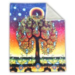 Blanket - Faux Rabbit Fur - Tree of Life