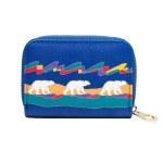 Card Holder - Zip Around - Polar Bears