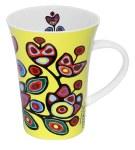 Porcelain Mug - Floral on Yellow