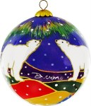 Sky Watchers Glass Ornament
