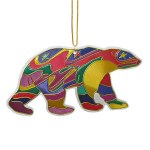 Alpha Bear Metallic Ornament