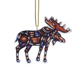 Moose Metallic Ornament