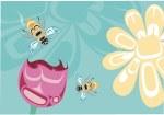 Bee & Blossom Postcard