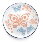 Porcelain Plate - Butterfly & Wild Rose