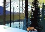 Fox Winter Mountain Card