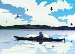 Canoe People Eagle Card